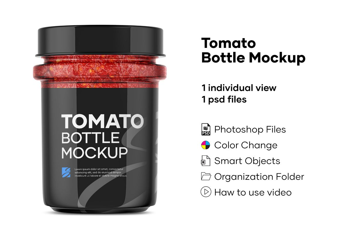 Tomato Bottle Mockup example image 1