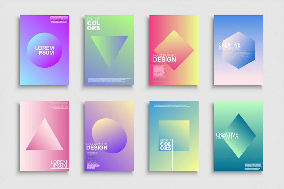 Colorful gradient trendy posters example image 1