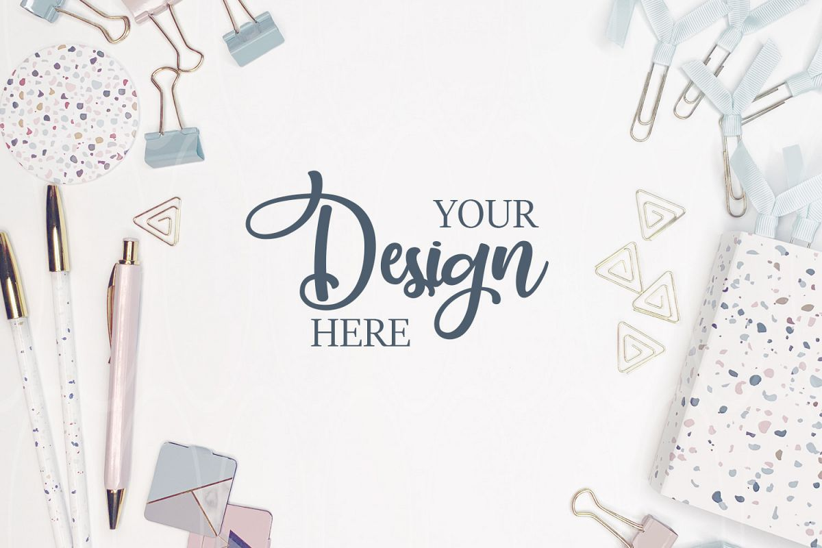 Styled stock photography Women's stationery mockup example image 1