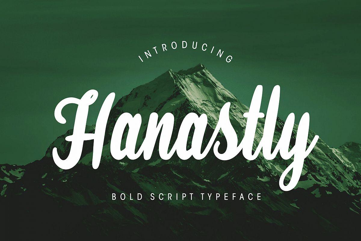 Hanastly Bold Script example image 1