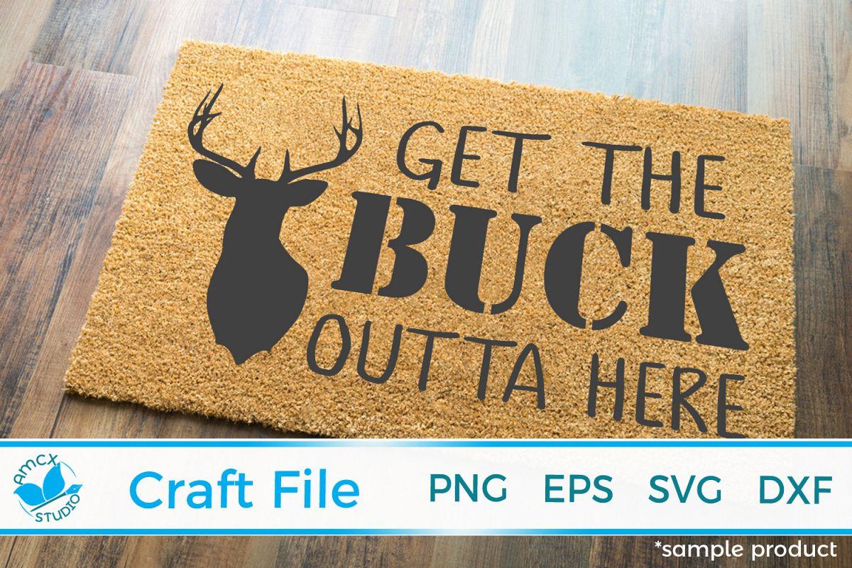 Deer Head Front Doormat SVG example image 1
