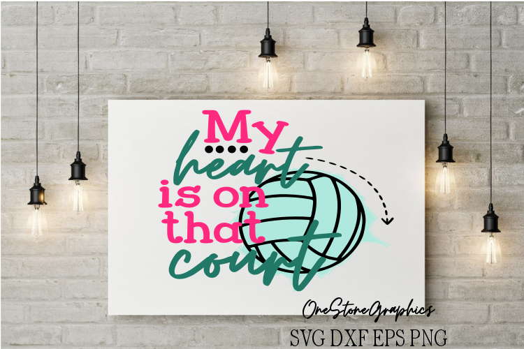 Volleyball My heart is on that court example image 1