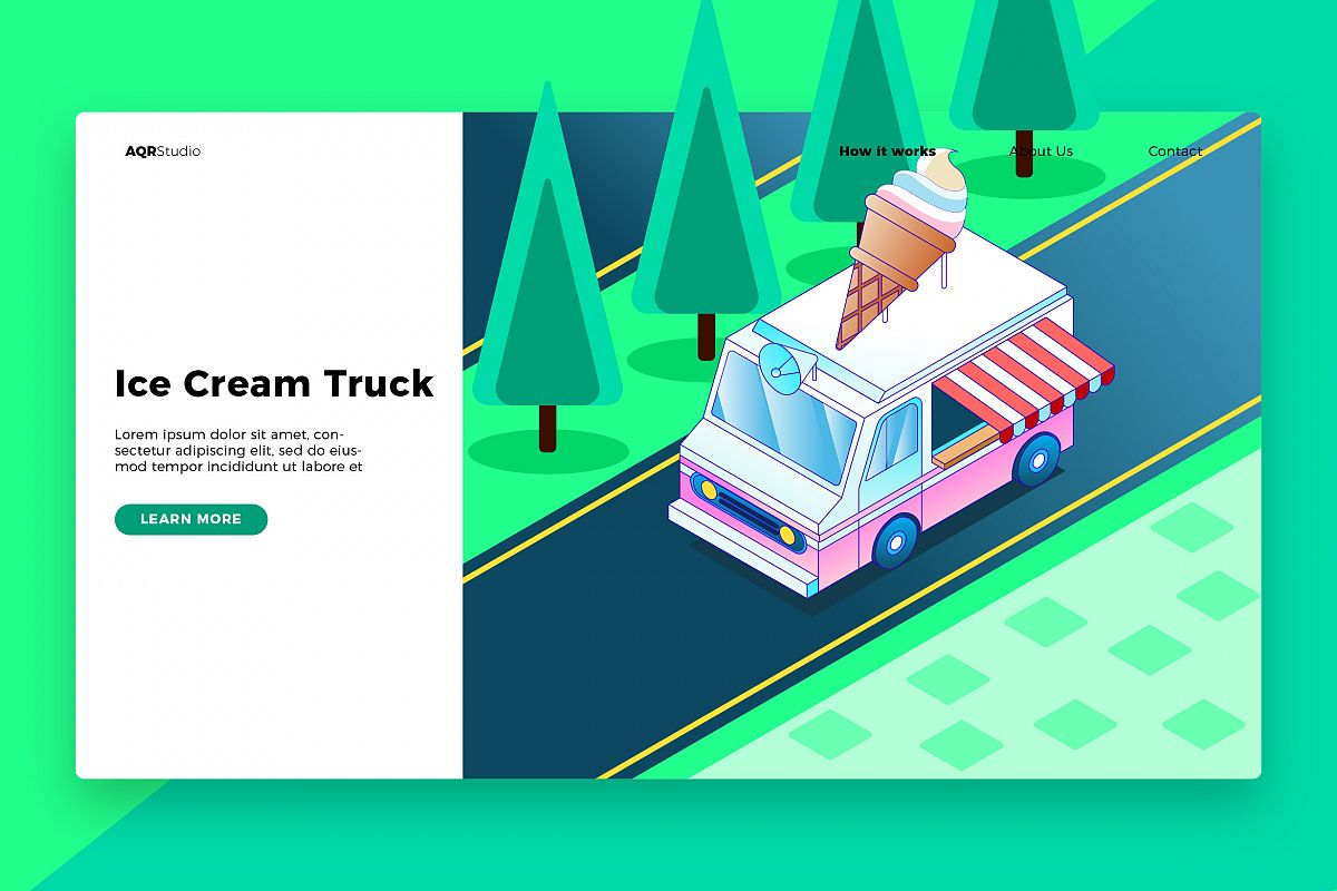Ice Cream - Banner & Landing Page example image 1