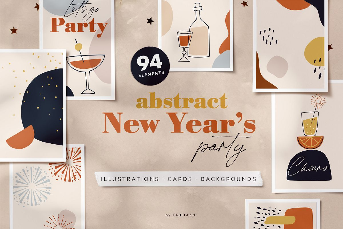 Abstract New Year's party set example image 1