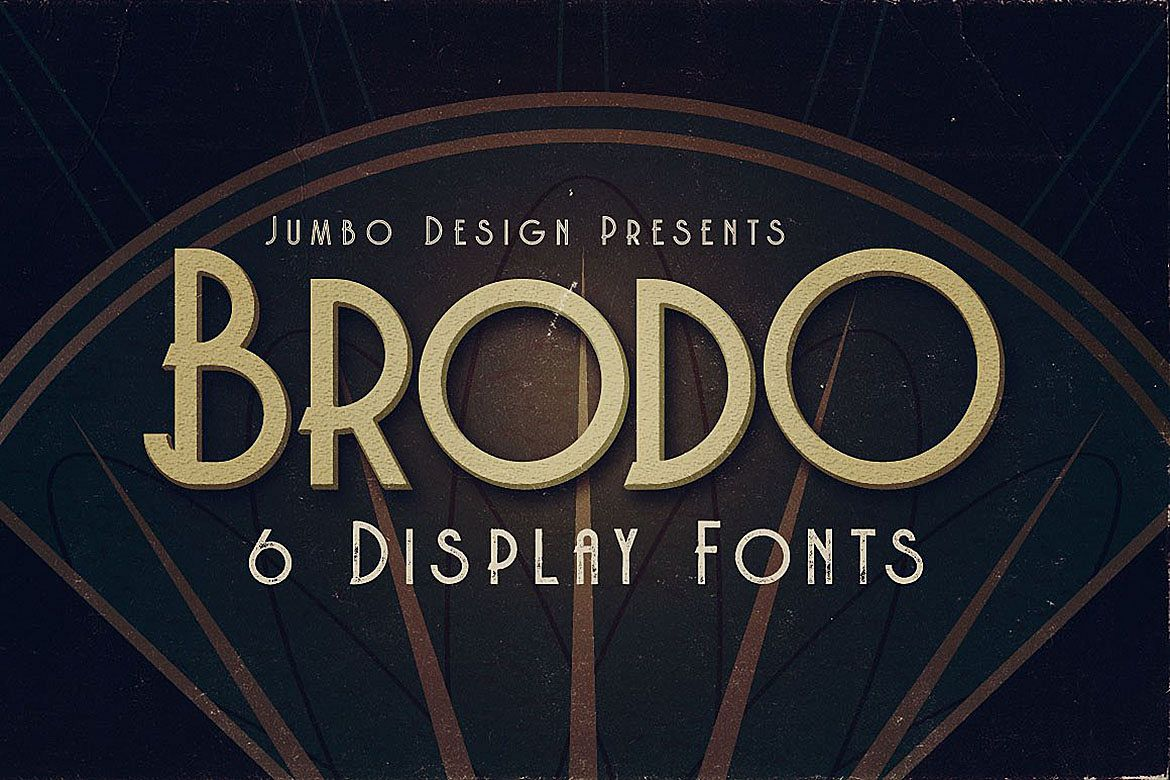 Brodo - Display Font example image 1