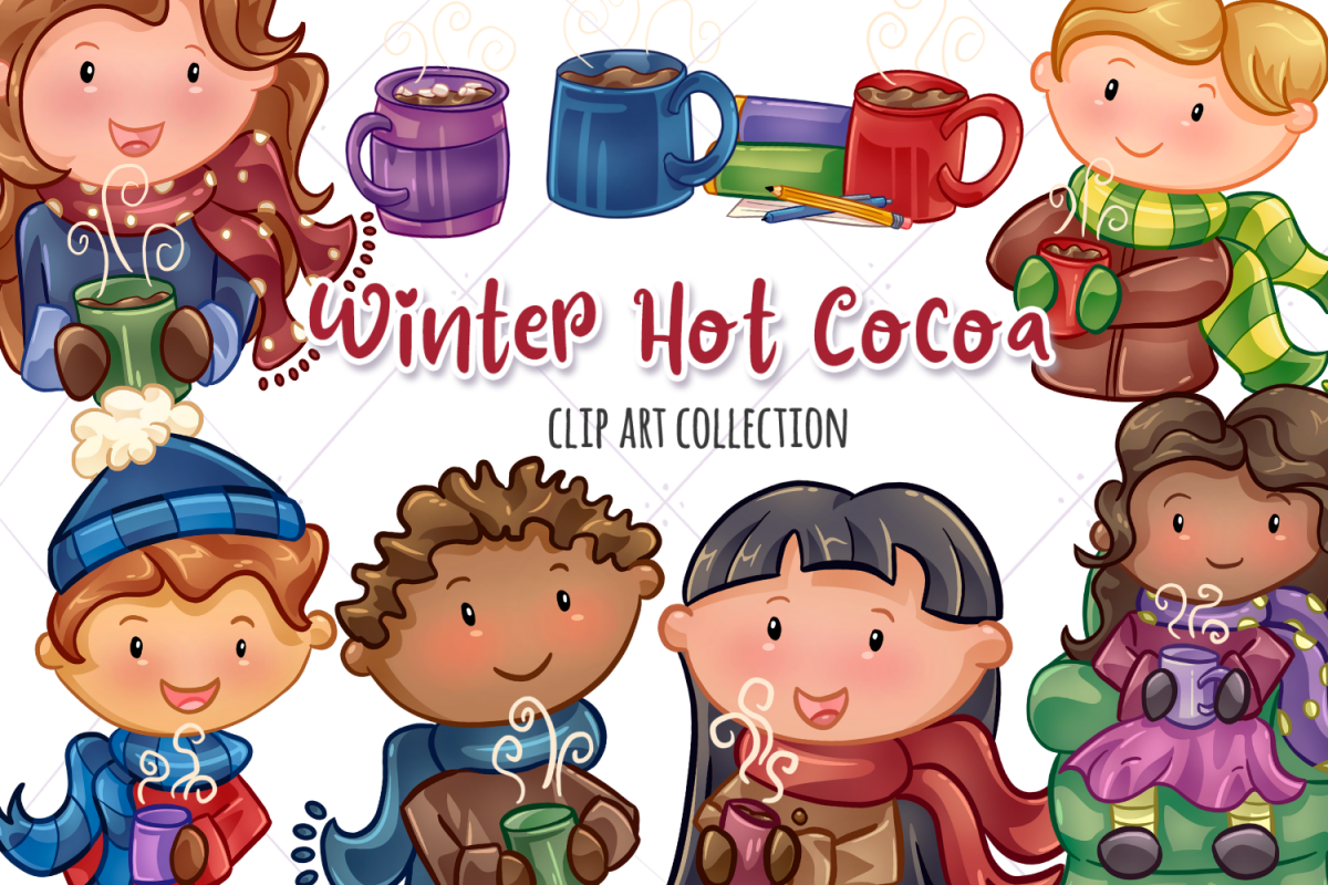 Winter Hot Cocoa Time Illustrations example image 1