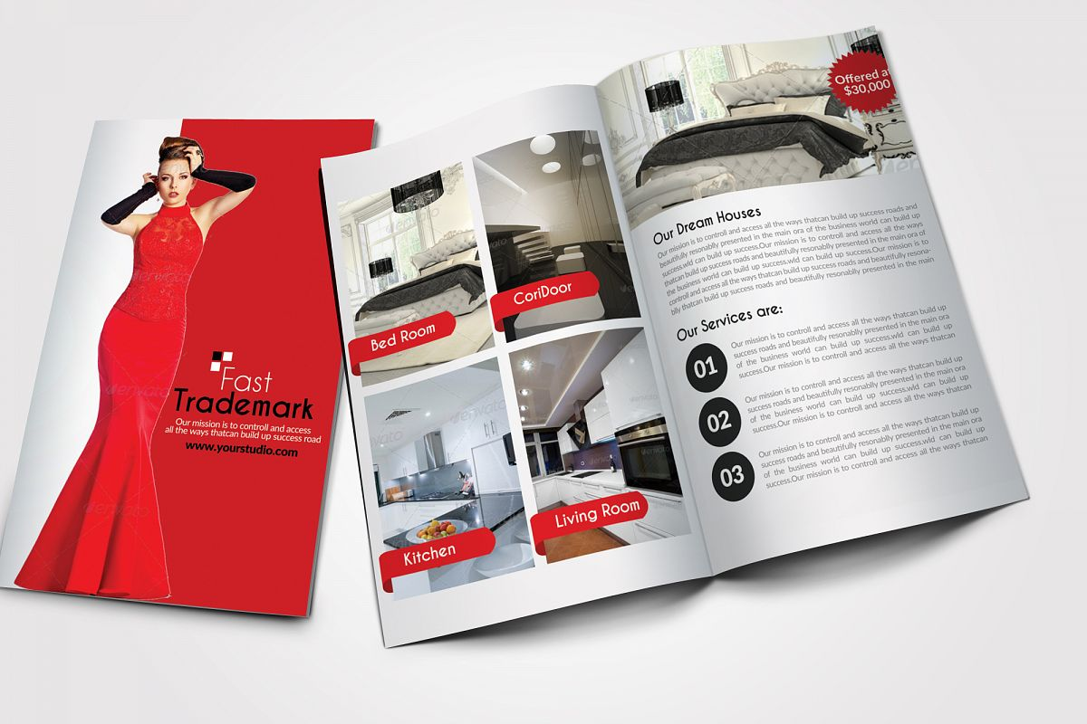 12 Pages Luxury Business Bifold Brochure example image 1
