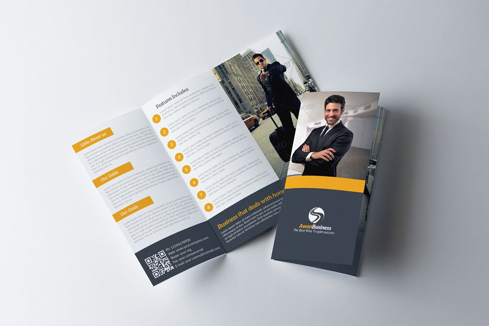 Business Tourist Trifold Brochure example image 1