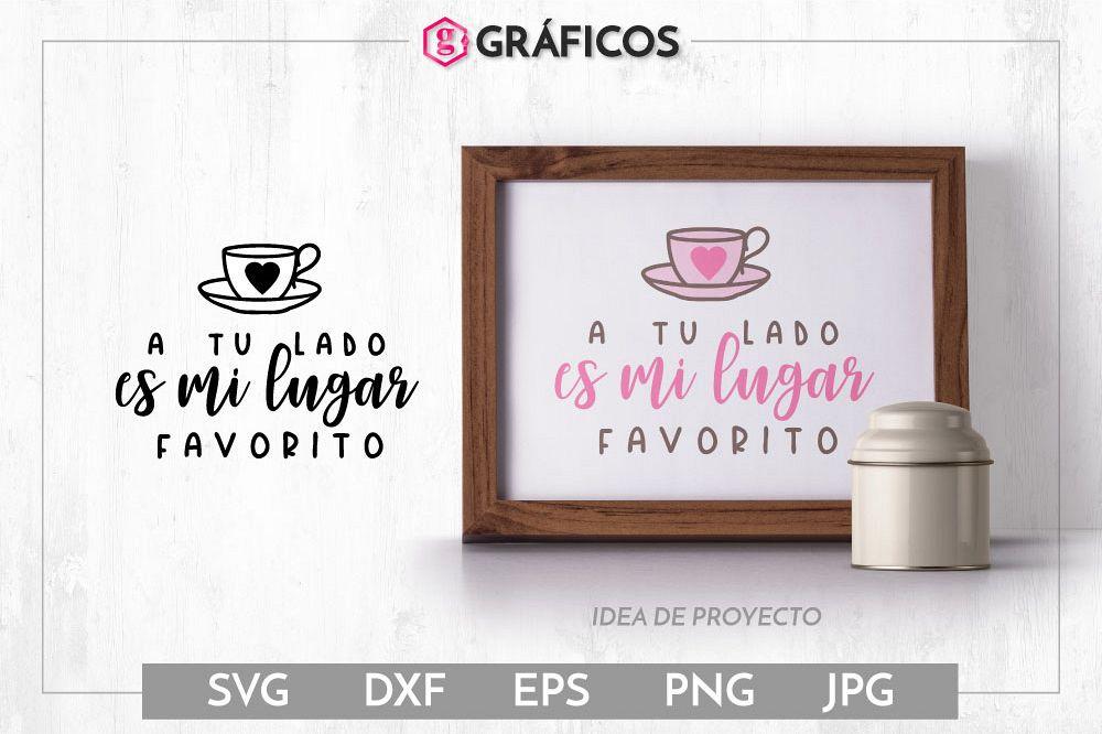 A tu lado es mi lugar favorito SVG - Diseño San Valentín example image 1
