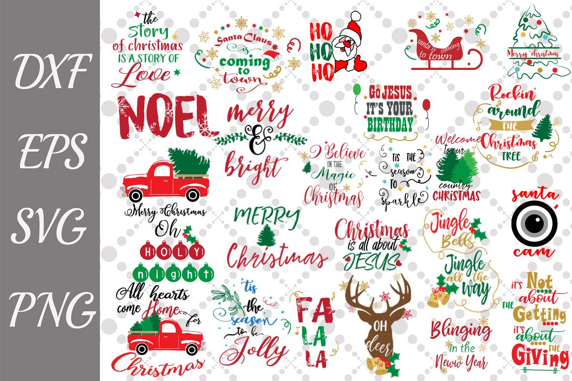 Bundle Christmas Quotes Svg, CHRISTMAS SVG, Holiday Quotes