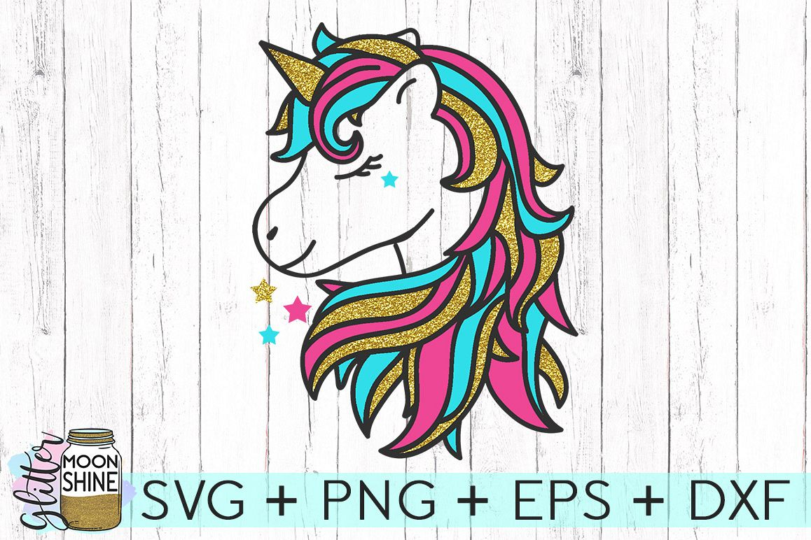 Magical Unicorn SVG DXF PNG EPS Cutting Files example image 1