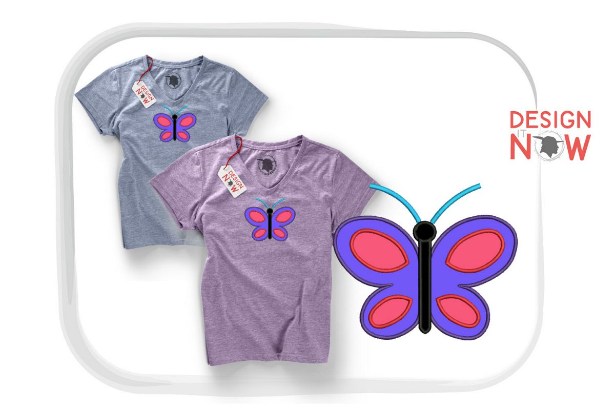 Butterfly Applique Design, Butterfly Embroidery, Handmade example image 1