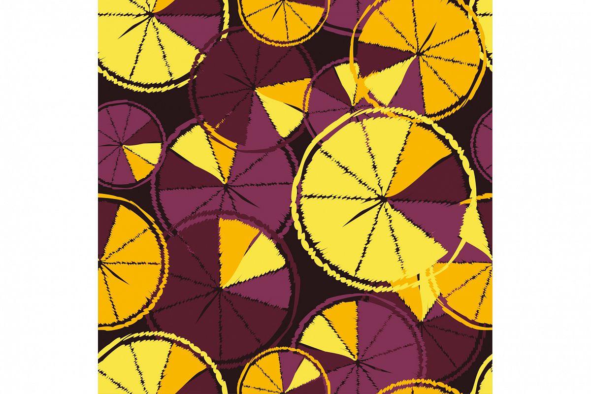 Ethnic boho seamless pattern with decorative oranges. Tropical fruits.  example image 1