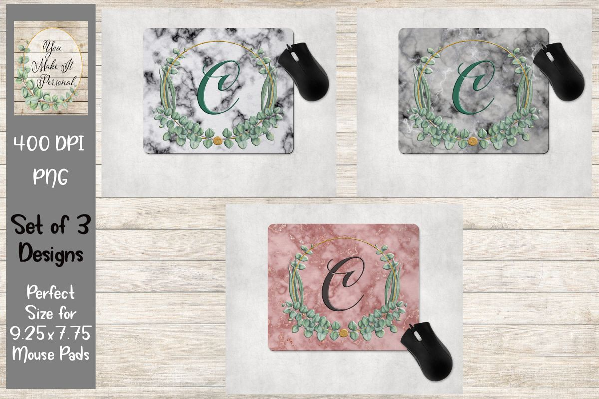 Marble with Herbal Frame - Mouse Pad Bundle example image 1