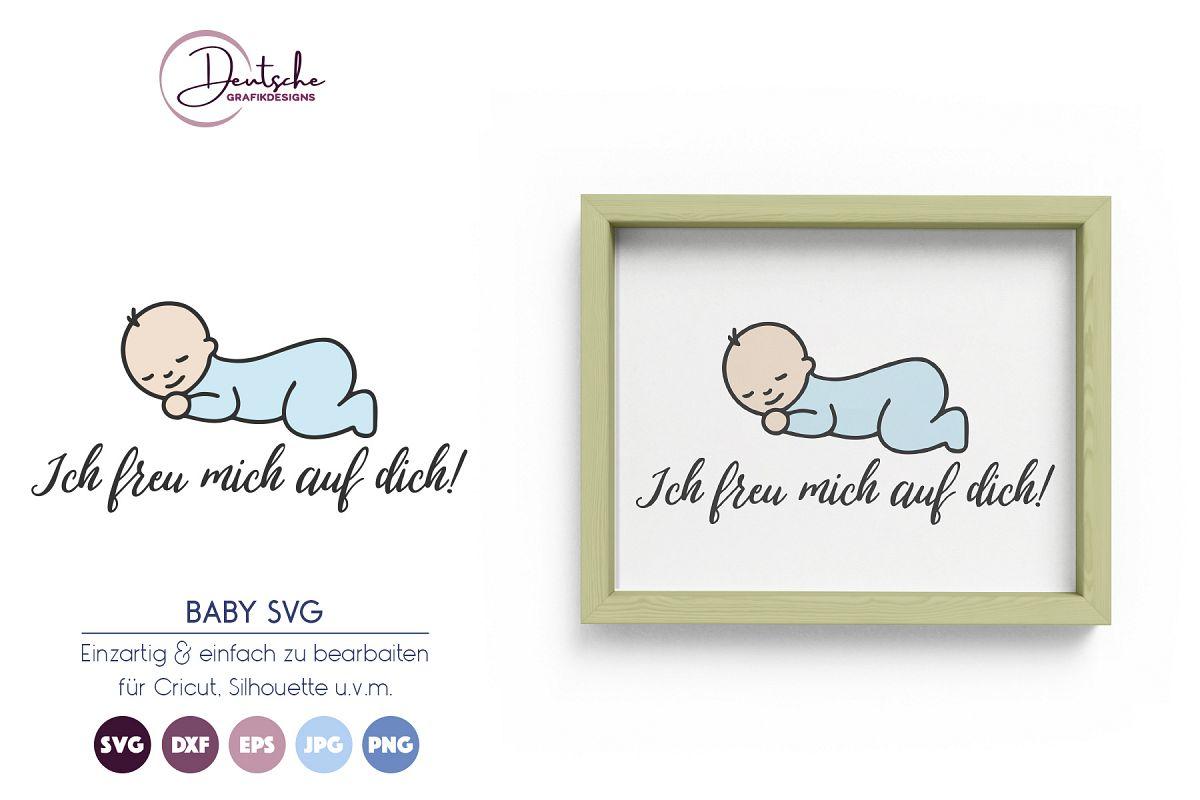 Baby SVG | Ich freu mich auf dich! example image 1