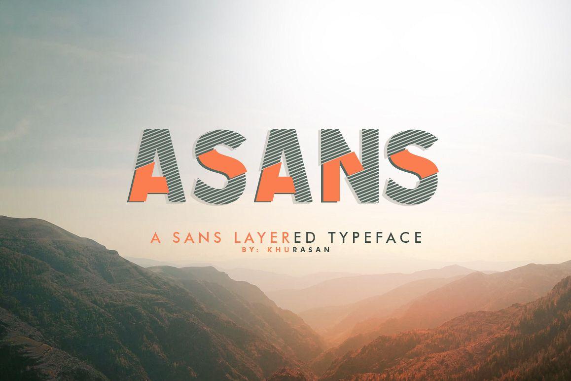 Asans Layered Font example image 1