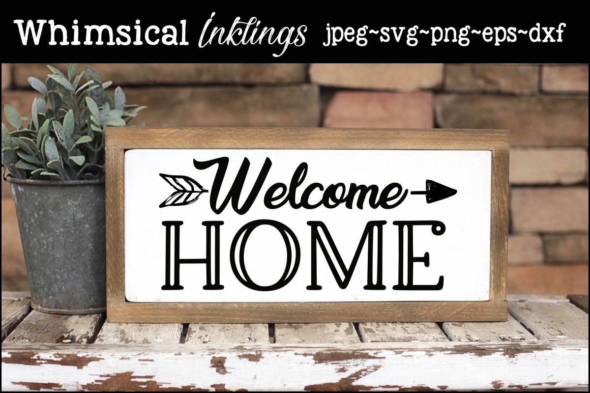 Welcome Home SVG example image 1