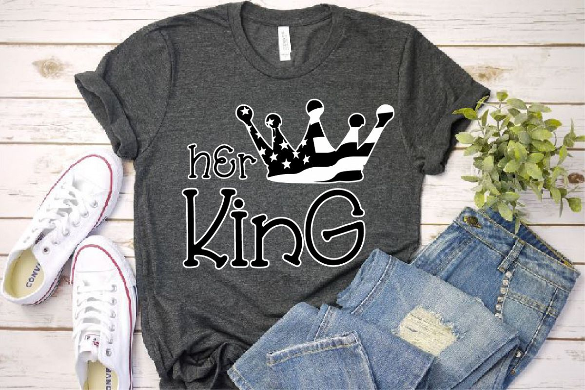 Her King Crown USA Flag SVG Royal 4th July 1264s example image 1