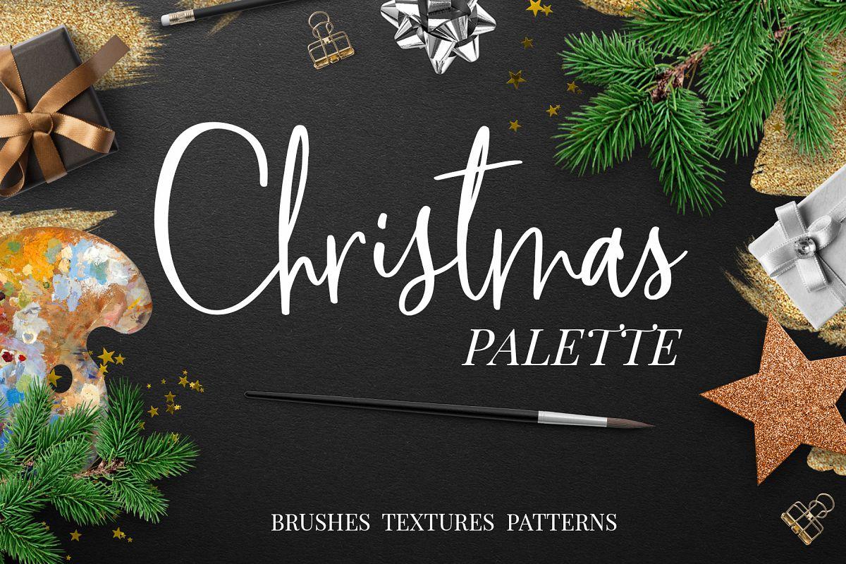 Christmas palette brushpack example image 1