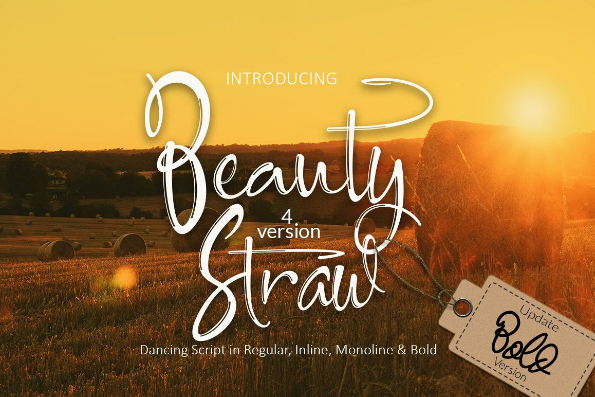 Beauty Straw + Bold Version example image 1