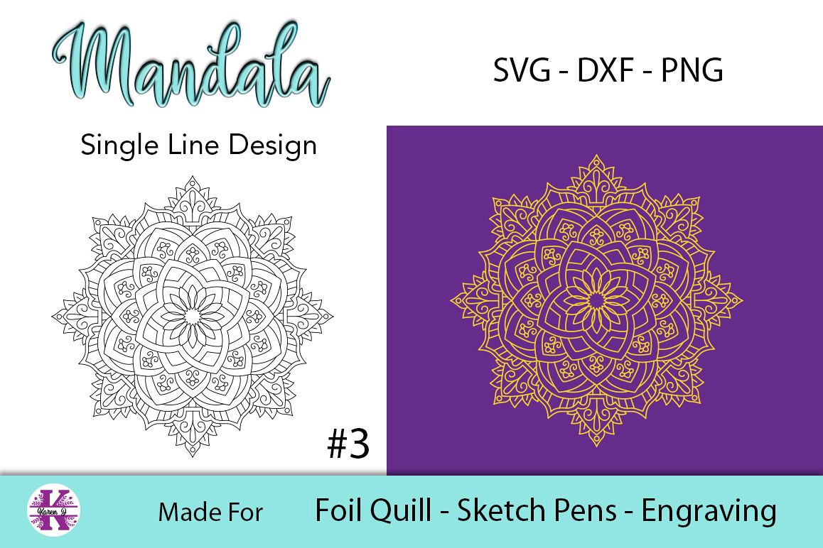 Mandala #3 for Foil Quill |Sketch Pen | Embossing example image 1