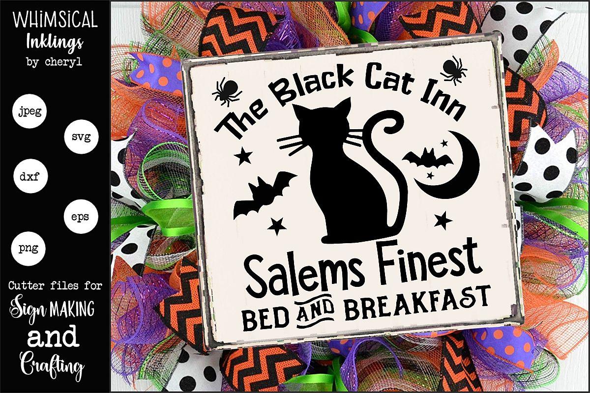 The Black Cat Inn-Halloween SVG example image 1