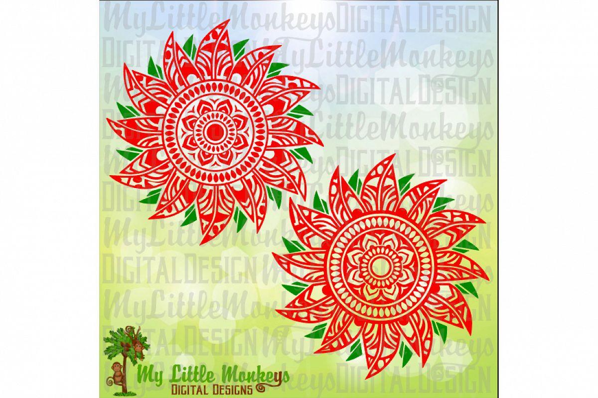 Poinsettia Mandala example image 1