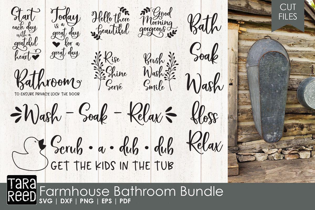 farmhouse bathroom sayings bundle example image 1 - Bathroom Sayings