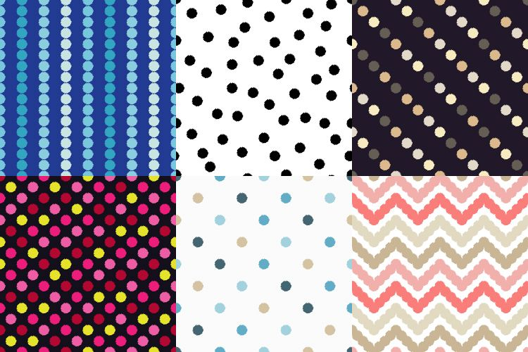 Polka dot seamless pattern. Scribble texture.  example image 1