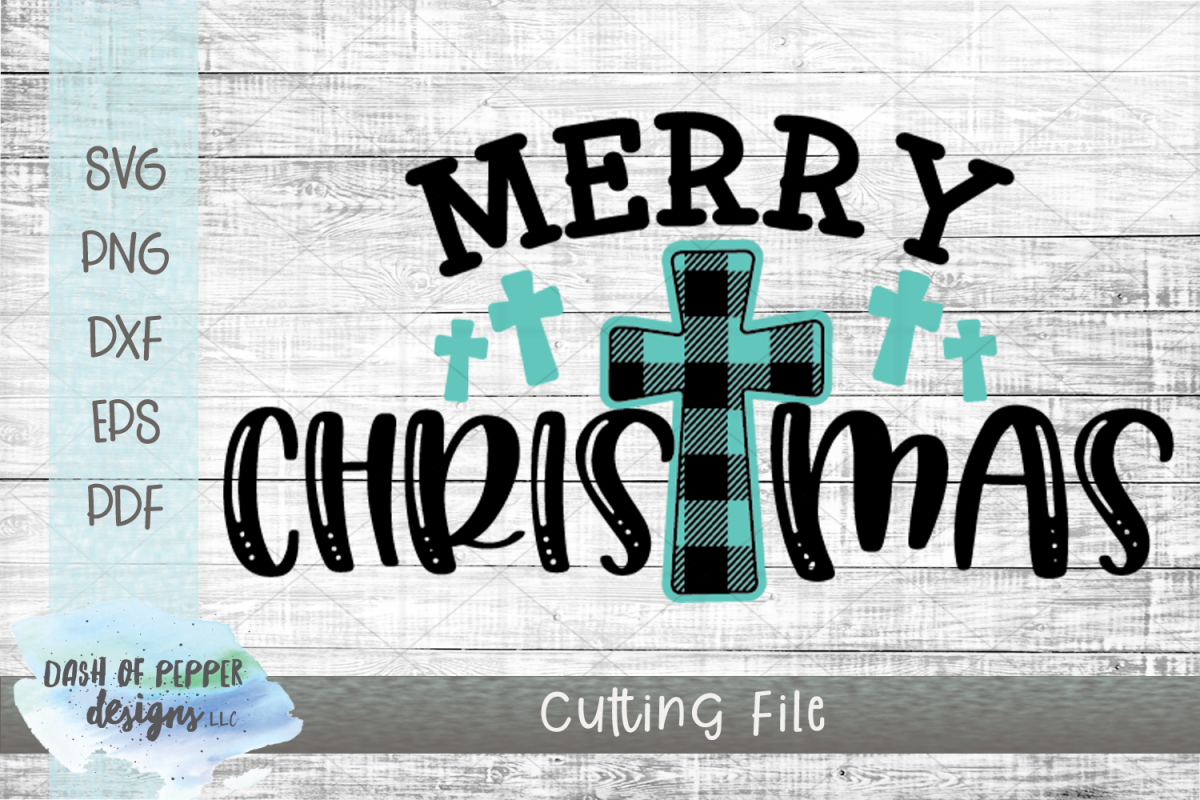 Merry Christmas Crosses SVG - A Christmas SVG example image 1