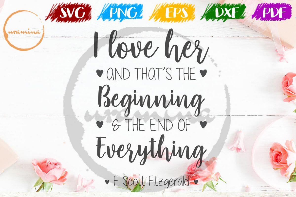 I Love Her Valentine SVG PDF PNG example image 1