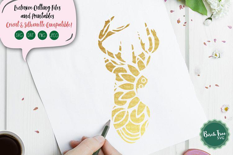 Deer Mandala SVG Cut File, Reindeer SVG, Deer Svg Cut File example image 1