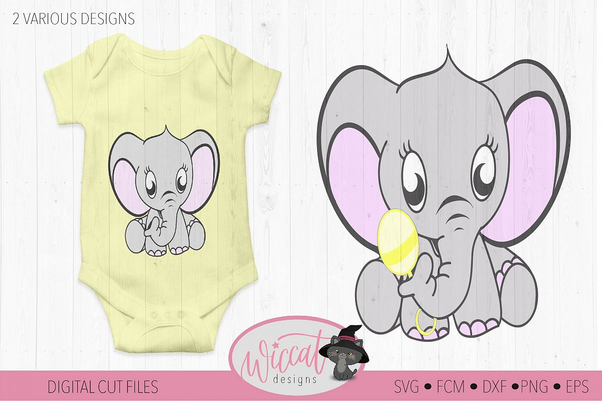 Baby elephant svg, Neutral baby svg, newborn, scanncut example image 1