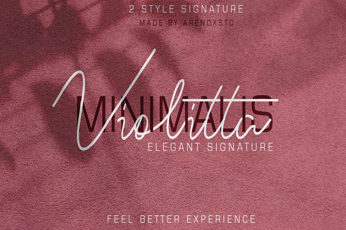 Violitta Signature typeface example image 1