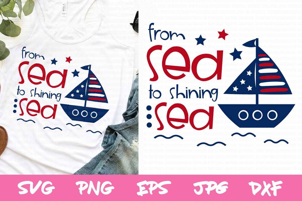 4th of july svg, Summer SVG, sailboat svg, patriotic svg example image 1