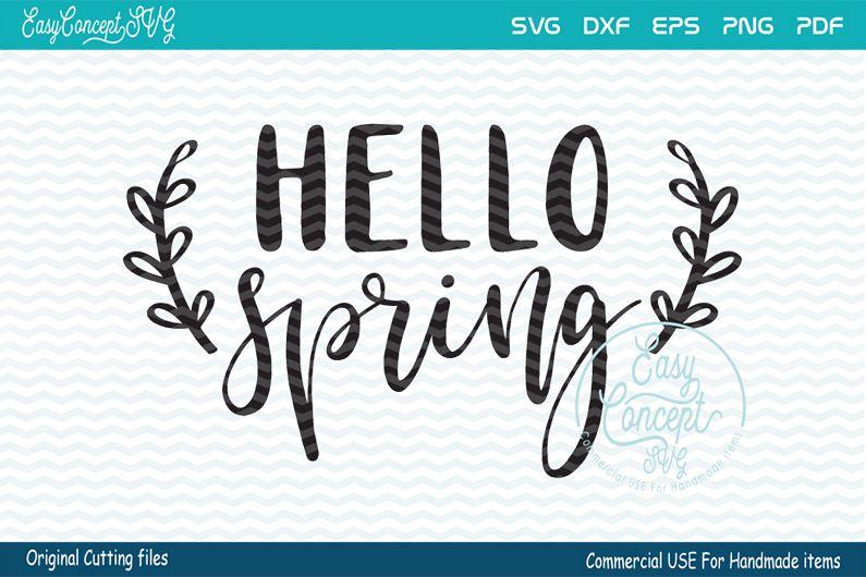 Hello Spring SVG, Spring svg, Spring Sign svg, example image 1