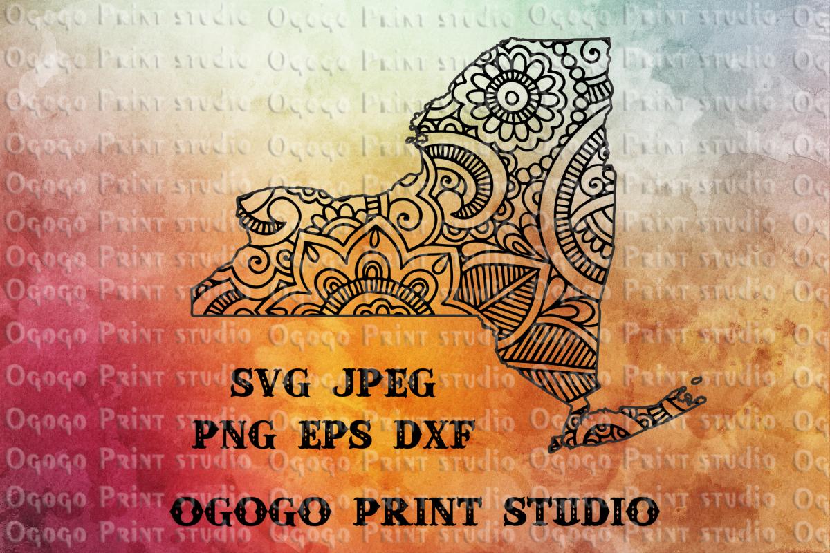 New York SVG, Zentangle SVG, Doodle Art, Travel svg, Mandala example image 1