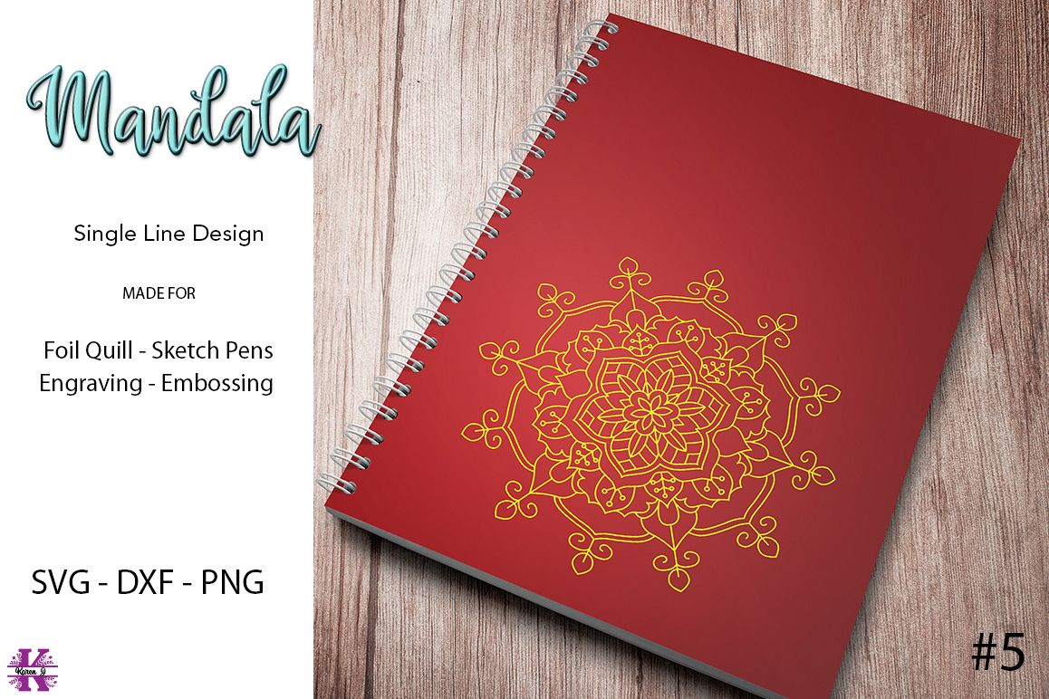 Mandala #5 for Foil Quill |Sketch Pen | Embossing example image 1
