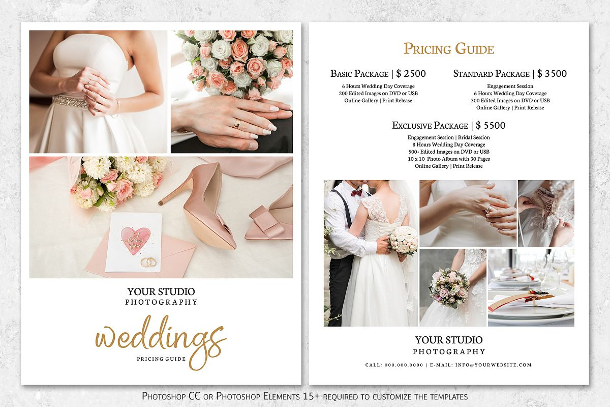 Wedding Photographer Pricing Guide Template
