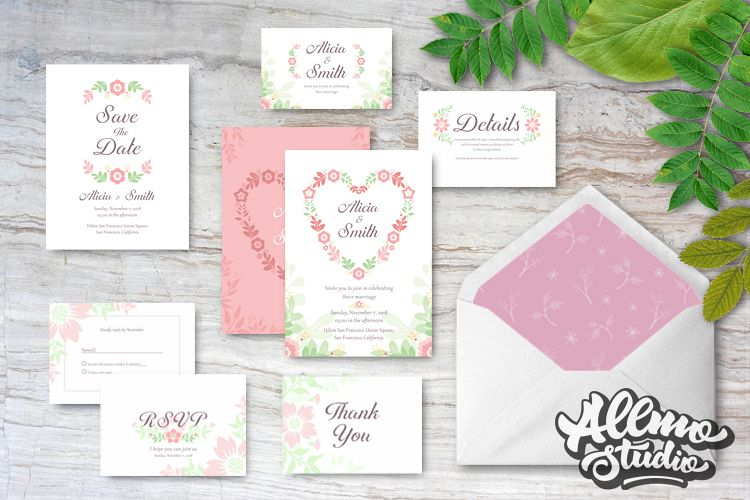 Floral Wedding Invitations example image 1