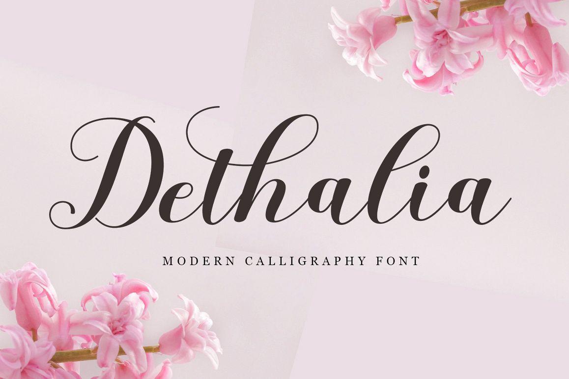 Dethalia Script example image 1