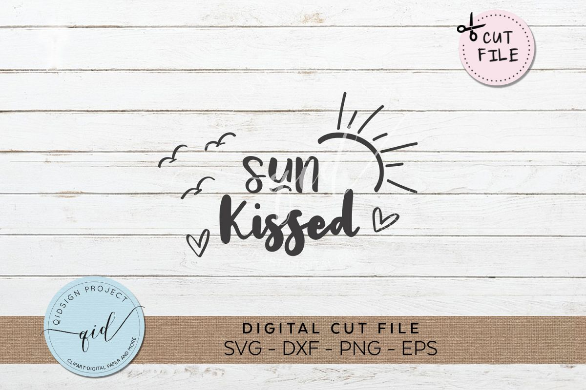 Sun Kissed SVG DXF PNG EPS example image 1