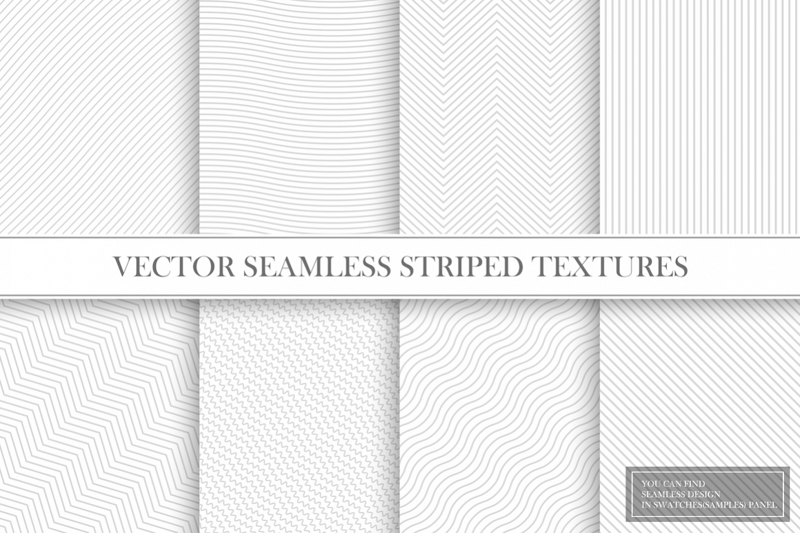 Delicate seamless striped patterns example image 1