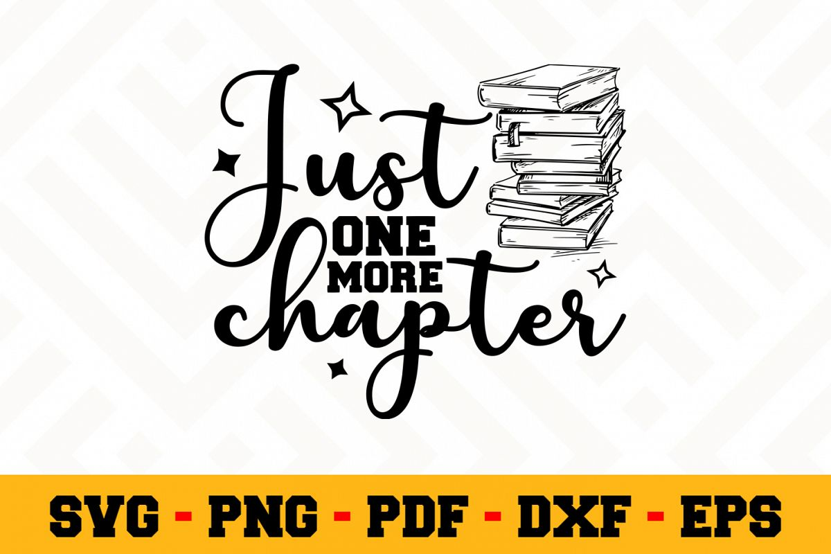 Book Lover SVG Design n614 | Reading SVG Cut File example image 1