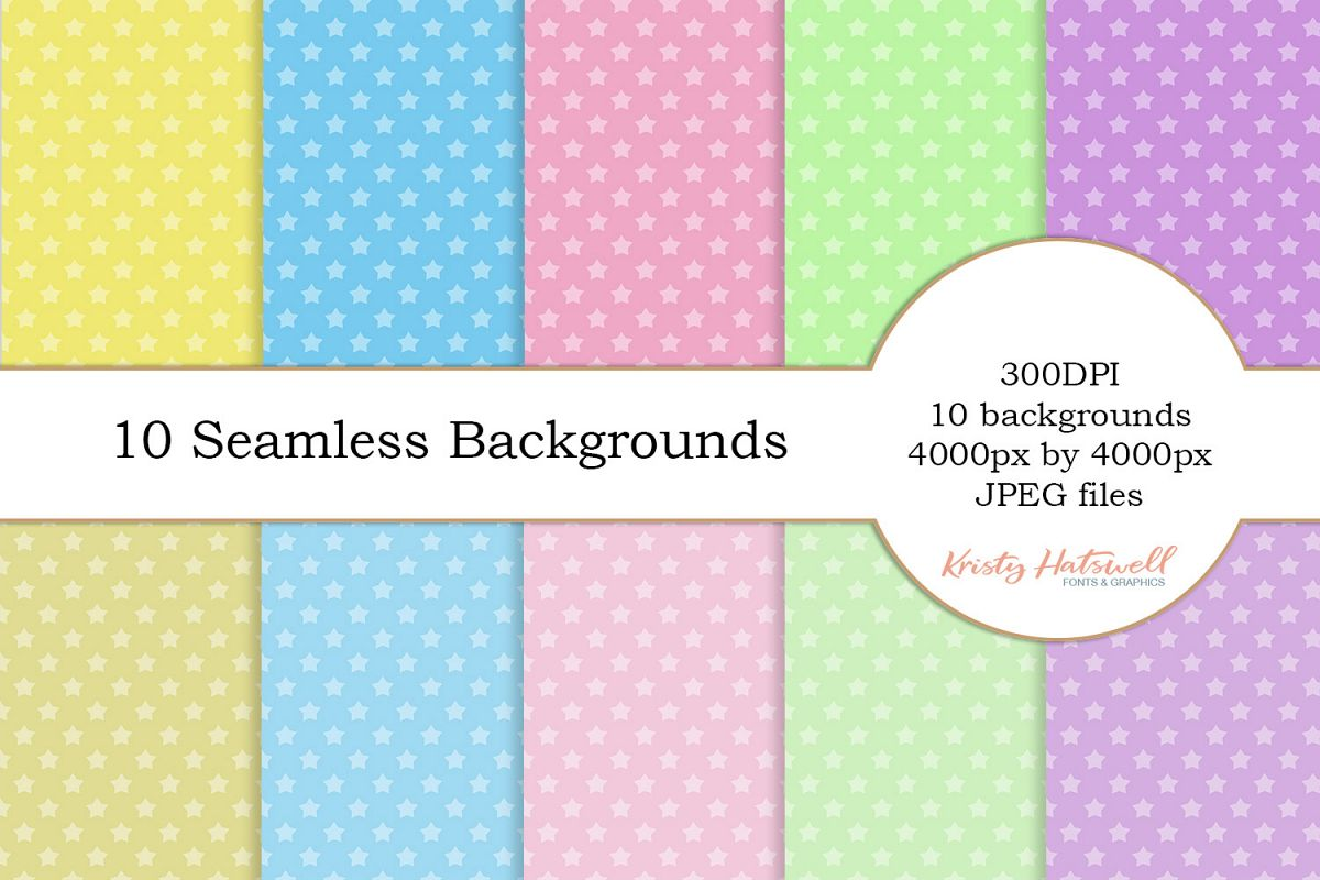 10 Seamless Star Backgrounds example image 1