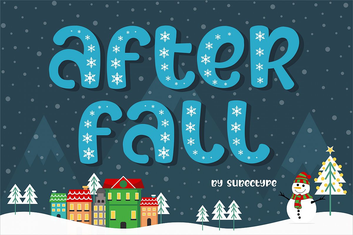After Fall Winter and Xmas Font example image 1
