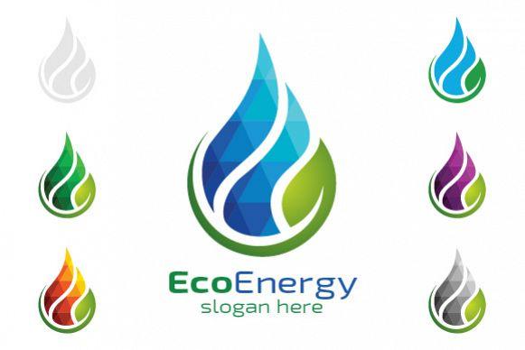Eco Water Drop Logo, Energies logo example image 1