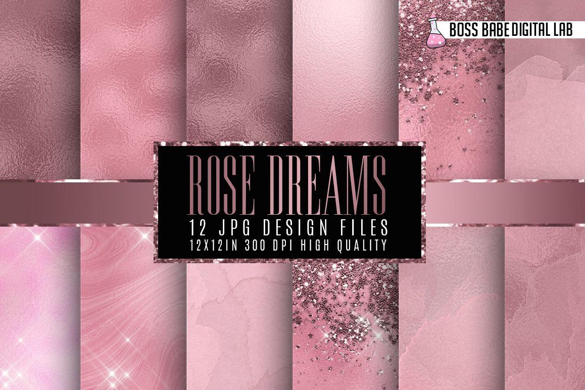 Rose Dreams Digital Papers example image 1