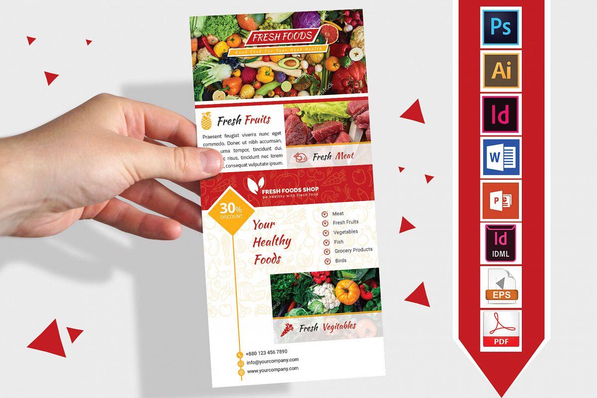 Rack Card | Fresh Food DL Flyer Vol-01 example image 1