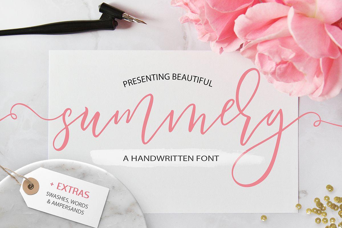 Summery Handwritten Calligraphy Font example image 1